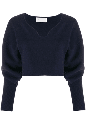 Esteban Cortazar cropped volume sweater - Blue
