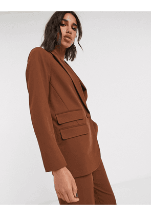 Topshop blazer co-ord in chocolate-Brown