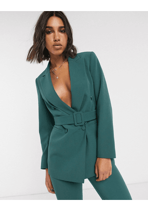 Topshop belted blazer co-ord in sea green