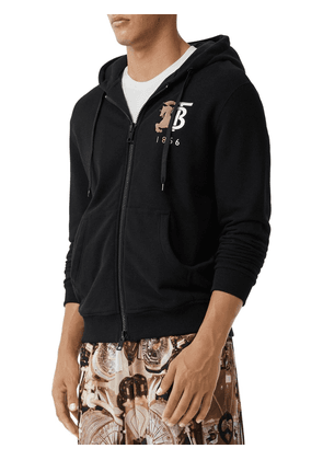 Logo Embroidery Zip-up Jersey Hoodie