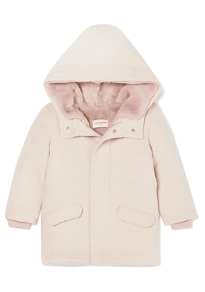 Yves Salomon Kids - Ages 4 - 6 Faux Shearling-lined Merino Wool And Cashmere-blend Parka