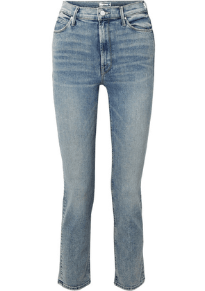 Mother - The Dazzler High-rise Straight-leg Jeans - Blue