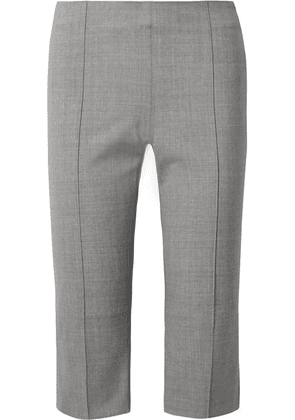 Maggie Marilyn - One Step Ahead Cropped Woven Straight-leg Pants - Gray