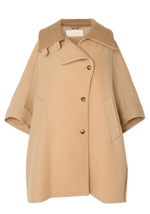Chloé - Oversized Wool And Cashmere-blend Cape - Beige