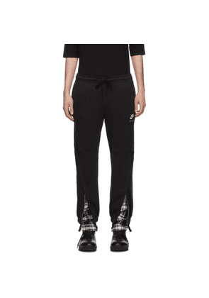 1017 ALYX 9SM Black Nike Edition Plaid Underlay Logo Lounge Pants