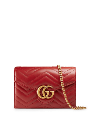 Gg Marmont Leather Wallet On Chain
