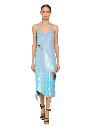 Sequined Cut Out Midi Dress