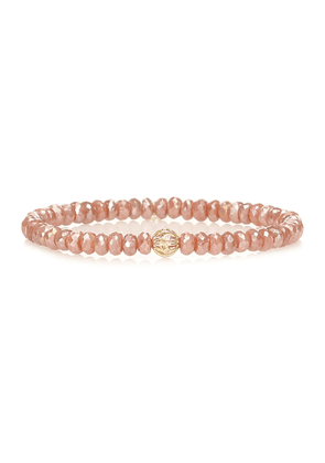Exclusive to Mytheresa – Beaded bracelet with 14kt yellow gold and diamond bezel