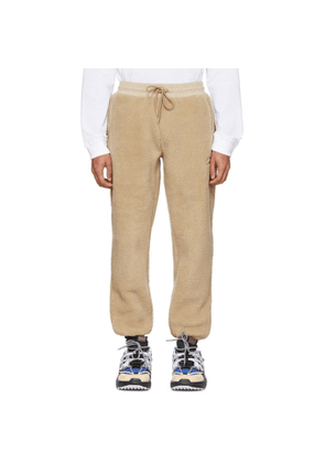 Li-Ning Beige Fleece Jogger Lounge Pants