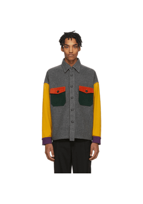 Woolrich Grey and Multicolor North Hollywood Edition Wool Shirt