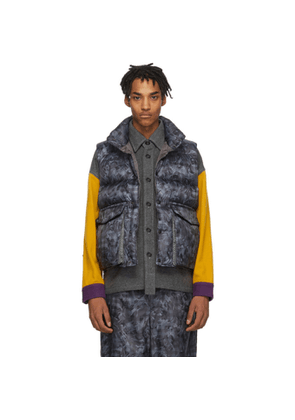 Woolrich Grey North Hollywood Edition Down Camouflage Vest