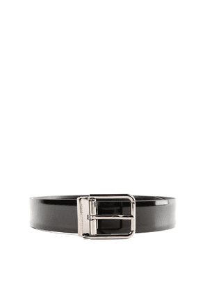 Black Brushed Leather Classic Belt