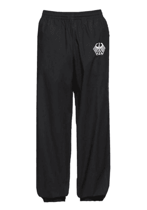 Black Men's Flag Tracksuit Pants