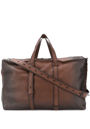 Orciani large distressed holdall - Brown