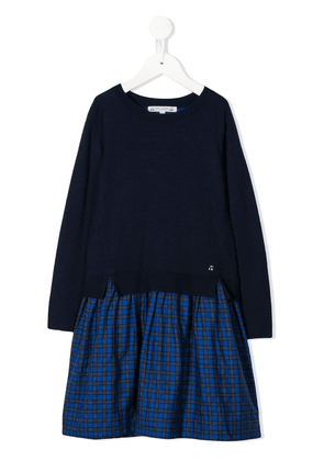 Bonpoint long-sleeve sweater dress - Blue