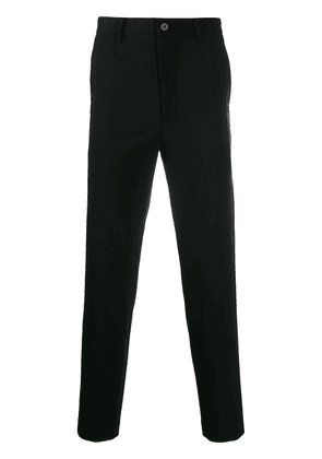 D.Gnak wool blend tapered trousers - Black