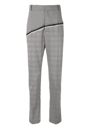 Cmmn Swdn D'Angelo checked straight-leg trousers - Black