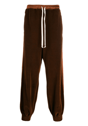 Gucci velour track pants - Brown