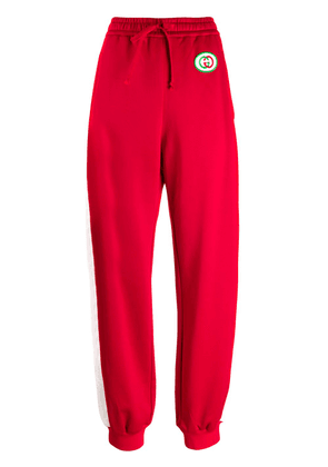 Gucci stripe detail track pants - Red