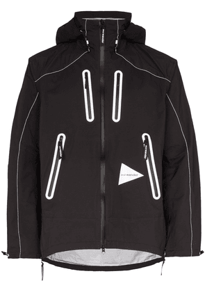 and Wander E Vent hooded jacket - Black