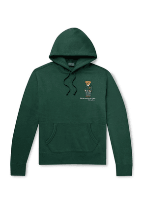 Polo Ralph Lauren - Logo-embroidered Fleece-back Cotton-jersey Hoodie - Green