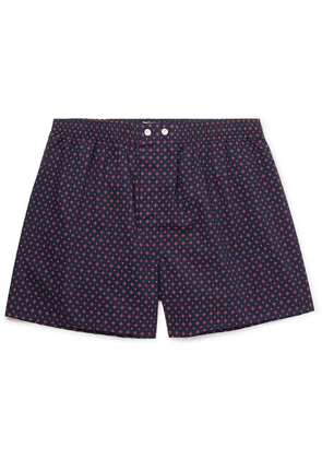Derek Rose - Nelson Printed Cotton Boxer Shorts - Navy