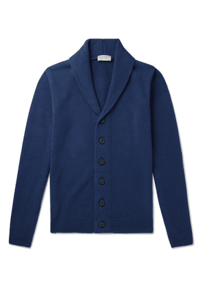 John Smedley - Patterson Shawl-collar Merino Wool And Cashmere-blend Cardigan - Blue