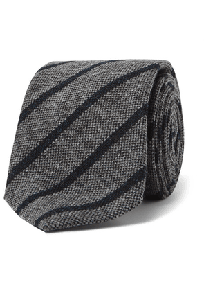 Anderson & Sheppard - 9cm Striped Wool And Silk-blend Tie - Gray