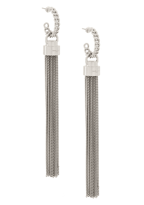 Saint Laurent tassel-style long earrings - SILVER