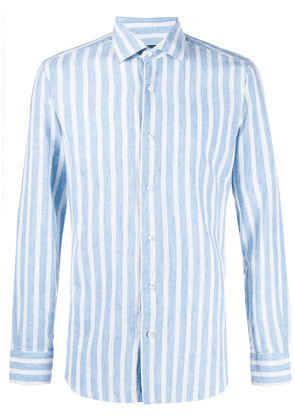 Barba stripe print shirt - Blue