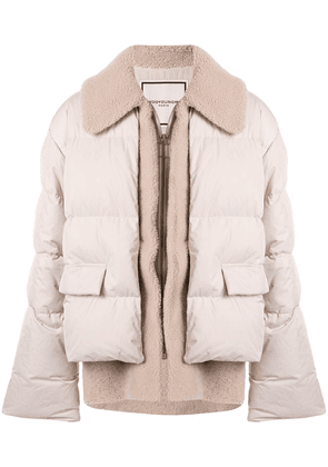 Wooyoungmi layered-effect padded jacket - Brown