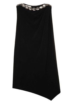 Gucci crystal embellished draped dress - Black