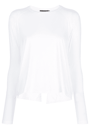 ALALA long-sleeve flared top - White