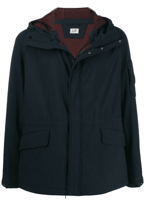 CP Company contrast lining hooded jacket - Blue
