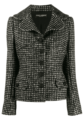 Dolce & Gabbana tweed fitted jacket - Black
