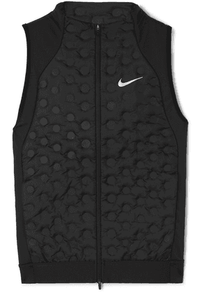 Nike - Aeroloft Printed Quilted Shell Down And Stretch-jersey Vest - Black