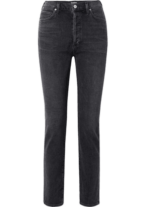 Citizens of Humanity - Olivia High-rise Slim-leg Jeans - Charcoal