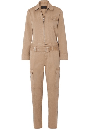 RtA - Cisco Belted Cotton-blend Jumpsuit - Beige