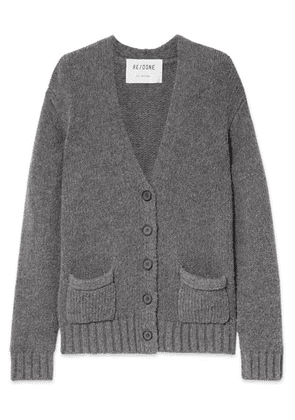 RE/DONE - 90s Oversized Knitted Cardigan - Charcoal