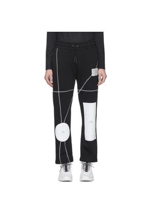A-Cold-Wall* Black Geometric Lounge Pants