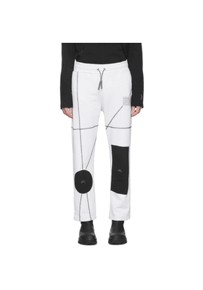 A-Cold-Wall* White Geometric Lounge Pants