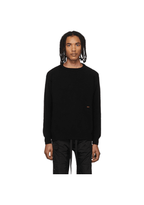 424 Black Wool and Cashmere Sweater