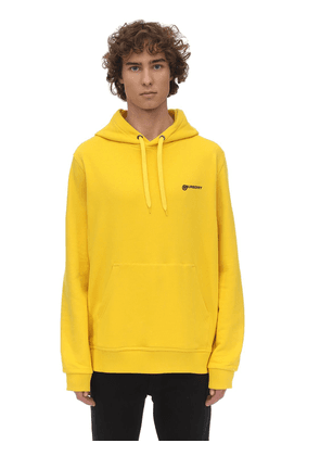 Logo Embroidered Jersey Hoodie