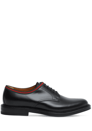 15mm Leather Lace-up Derby Shoes