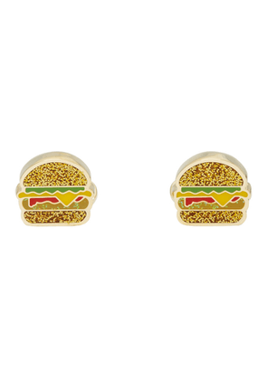 Paul Smith Gold and Multicolor Glitter Junk Food Cufflinks