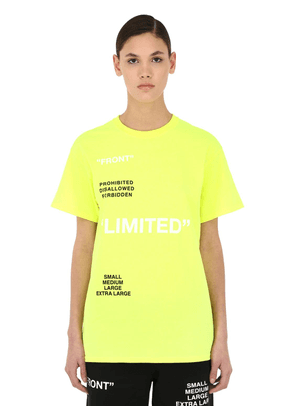 Limited Printed Cotton Jersey T-shirt
