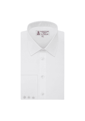White Two-Fold 200-Count Cotton Shirt