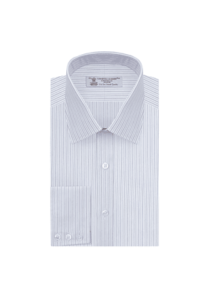 Light Blue Double-Striped Sea Island Quality Cotton Shirt