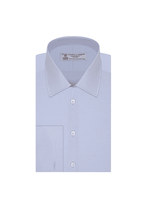 Blue West Indian Sea Island Quality Cotton Shirt