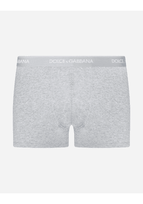Dolce & Gabbana Underwear - STRETCH COTTON BOXERS TWO-PACK GRAY